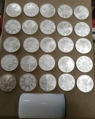 Five 5 Coins BU Random Date Mexico Silver Libertad 1 oz 1 Onza