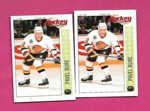 RARE-1992-93-PANINI-CANUCKS-PAVEL-BURE-STICKER-FRENCH-CARD-INV-D1683