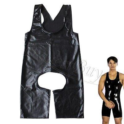 Sexy Men One-piece Crotchless Underwear Gay Bodysuit Jumpsuit Wrestling Singlet