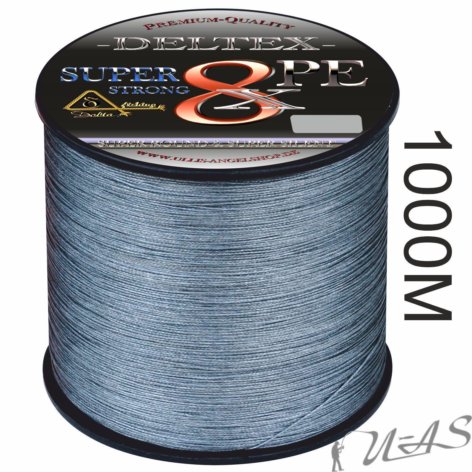 Deltex SUPER STRONG grigi 1000m 8 volte circa intrecciato lenza selezione SHA