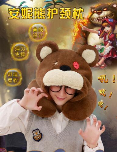 """Game LOL ANNIE/'S BEAR Tibbers Plush Soft Plush Toys Doll cou oreiller 14/"""" ou 24/"""""""