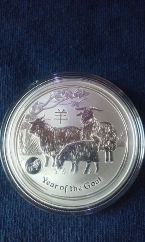 Lion Privy 2015 1 oz Australia Perth Mint Lunar Year of the Goat Silver Coin
