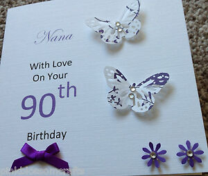 Handmade personalised birthday card mum grandma nana sister 50th image is loading handmade personalised birthday card mum grandma nana sister bookmarktalkfo