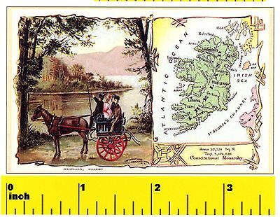 DOLLSHOUSE Miniature  VICTORIAN BRITISH EMPIRE  World Map Print CDHM
