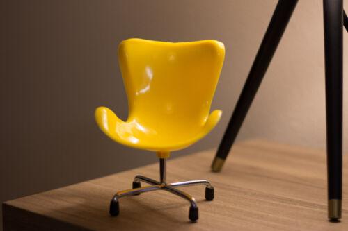Miniature Eames Miller Egg Chair Mid Century Modern Home Decor Pantone Yellow