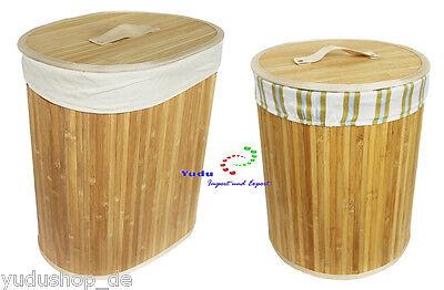Bambus Wäschekorb Wäschetonne Wäschekorb Wäschebox  Aufbewahrungsbox
