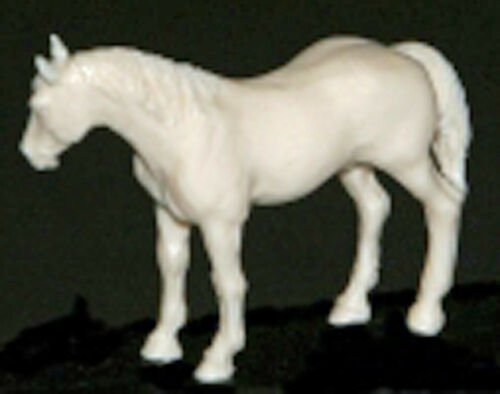 BAREBACK HORSE #3 HEAD RIGHT O On30 Model Railroad Unpainted Resin Figure AMCO17