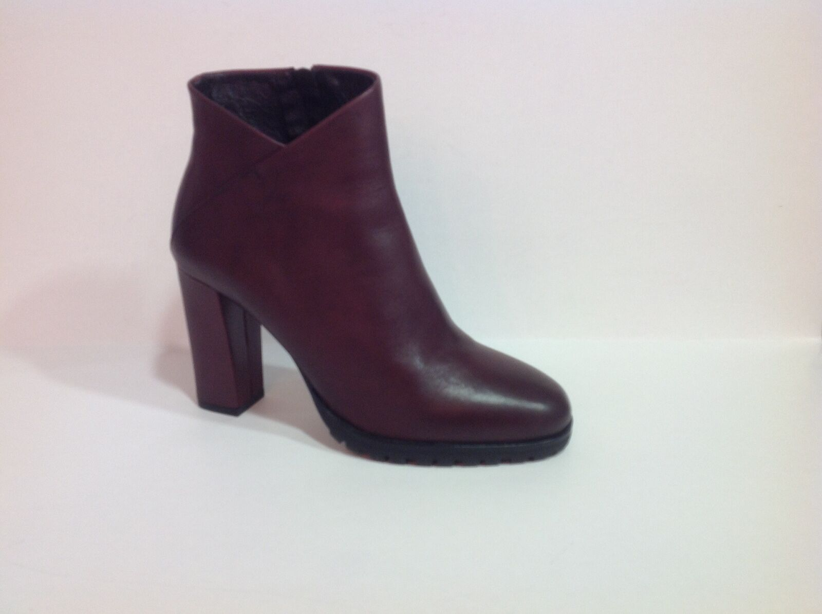 chaussure femme bottine Bruno Premi en cuir Bordeaux Talon 9 cm pointure 40
