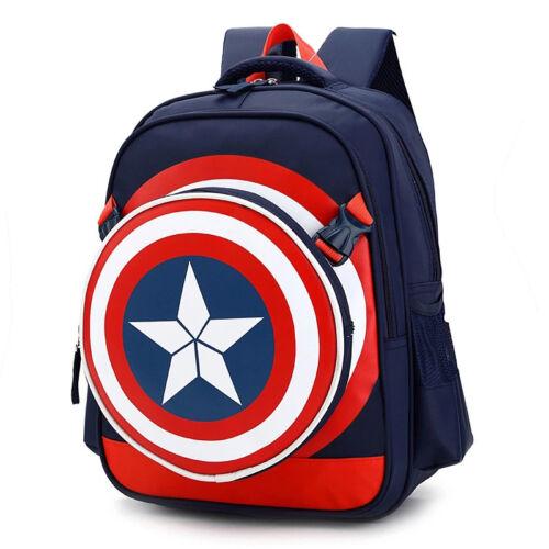 Captain American School Bag Backpack  Book Bag Satchel For Boys //Kids//Children