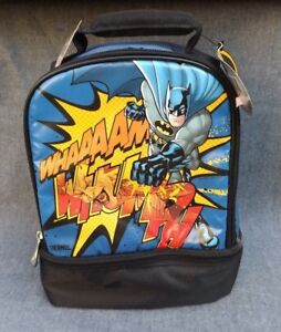 New Batman Lunch Kit Box Thermos Soft Insulated Bag Dual