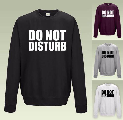 Non disturbare Felpa JH030-Cool Sweater Maglione studente divertente a pelo