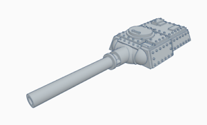Heavy-Tank-Turret-with-Tank-Hunter-Cannon-Culverin-Models