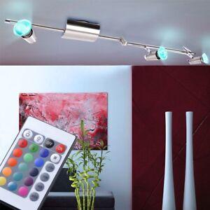 RGB-LED-Decken-Strahler-Esszimmer-Spot-Leuchte-dimmbar-schwenkbar-Fernbedienung