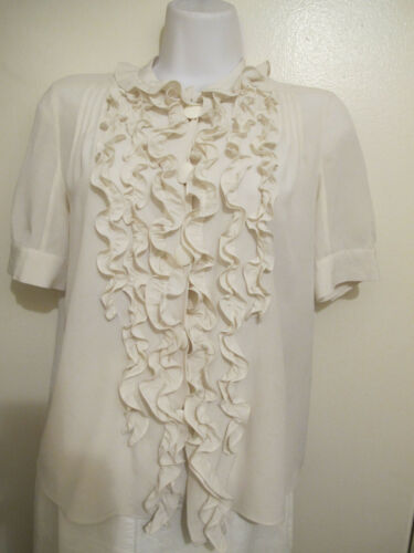 CHLOE WOMEN IVORY/CREAM TOP/BLOUSE BUTTON-FRONT S… - image 1