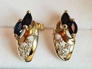 9ct-Yellow-Gold-Diamond-and-Sapphire-Earrings-304