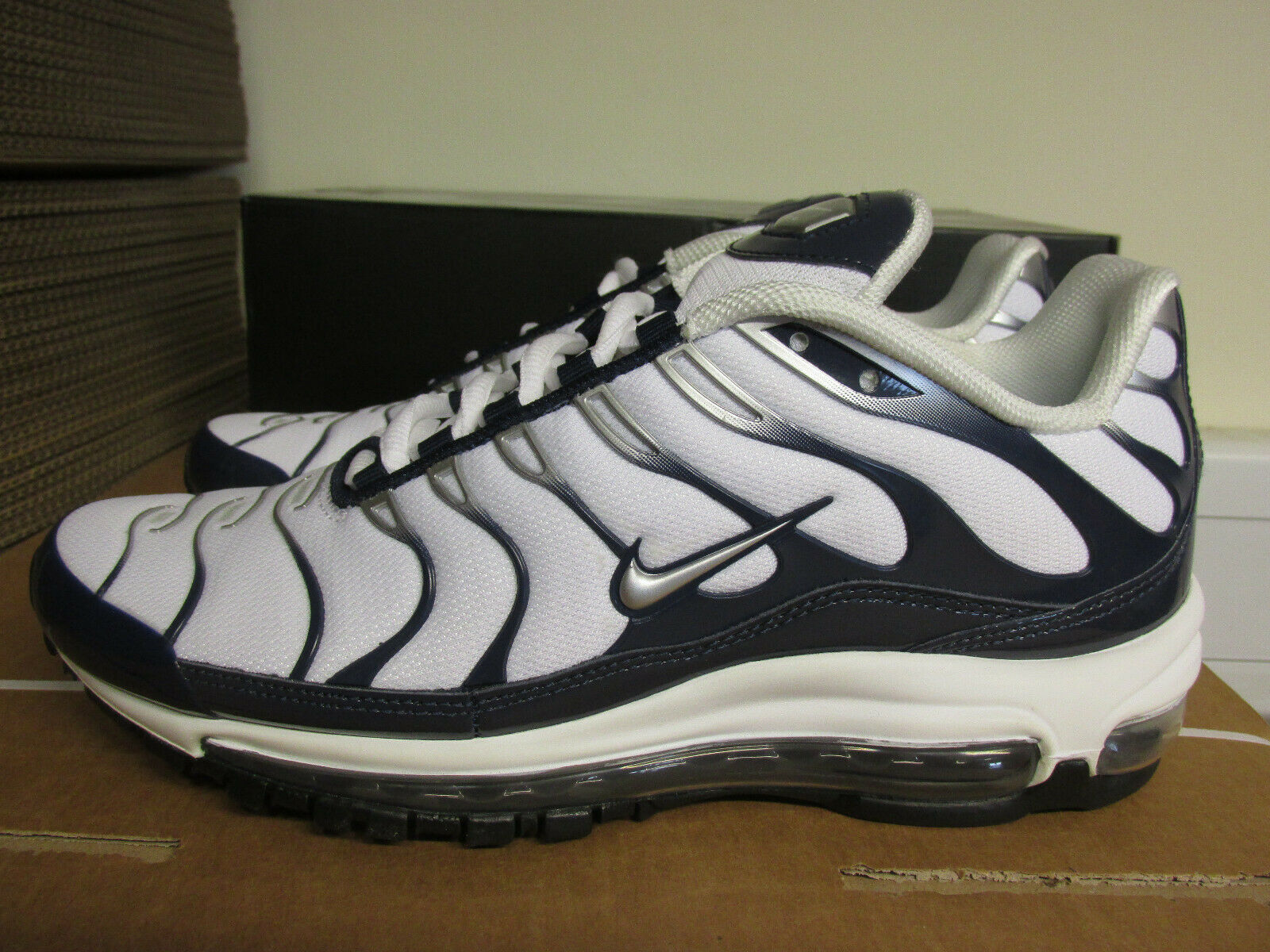 Nike Air Max 97 Plus Mens Running Trainers AH8144 100 Sneakers Shoes CLEARANCE