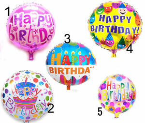 Image Is Loading 18 034 Happy Birthday Large Foil Balloons Kids
