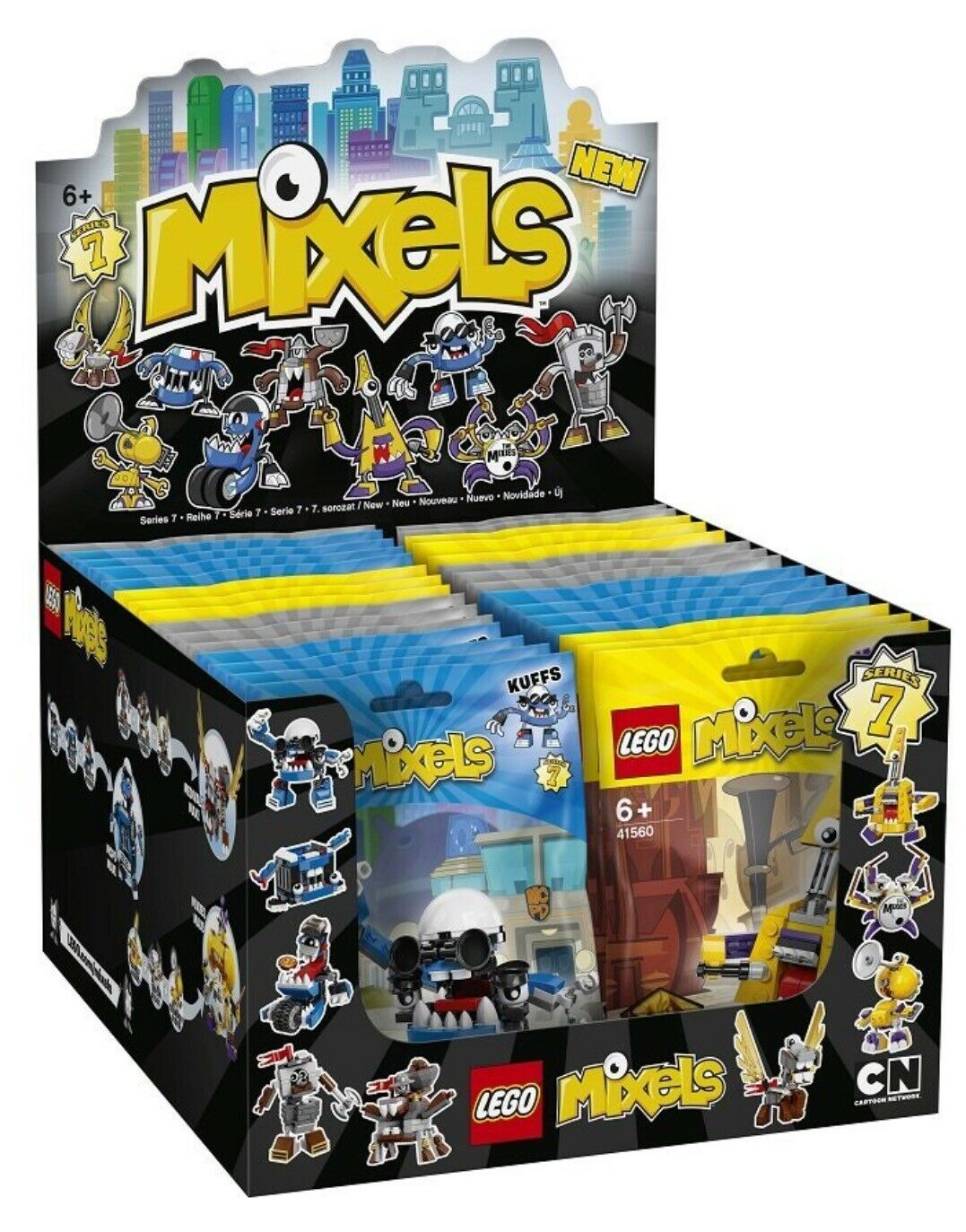 LEGO MIXELS  41554- 41562 Komplettes Display Serie 7  - NEU