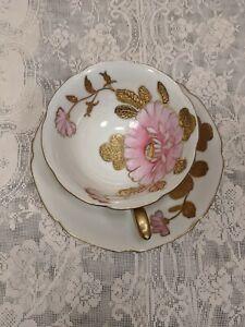 Occupied-Japan-Tashiro-Toen-Tea-Cup-And-Saucer-Hand-Painted