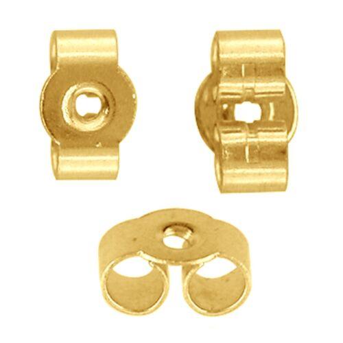 MEDIUM 5mm 375 9ct Yellow Gold Earring Backs Scrolls Butterfly Scroll NBL001X