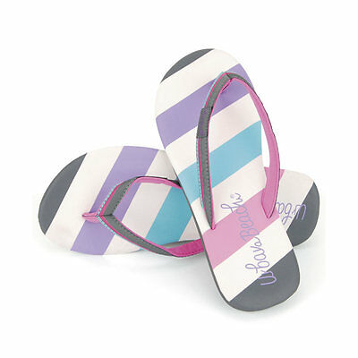 Girls Candy Stripe Flip Flops Urban Beach Branded Children Beach Shoes Sandals B