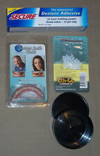 SECURE SMILE TEETH, DENTAL ADHESIVE,THERMAL BEADS x 2, CASE, NEW,SET OF 5 ITEMS,