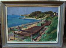 Albert Abbe 1889-1966, Fischernetze an der Küste, datiert 1941