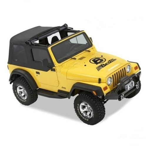Jeep Wrangler TJ Sunrider Softtop Verdeck Klappverdeck Black Denim Bestop 96-02