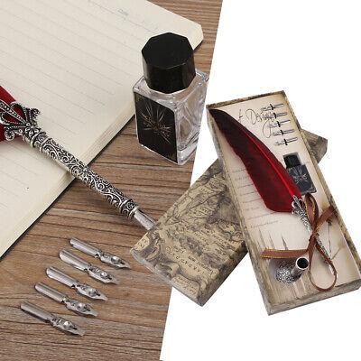 Antik Metall Rund Einlage Stifthalter für Federn Schreibfeder Kescher Stift
