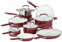 Cookware Kitchen Set Ceramic Non Stick 15 Pcs Stock Pot Fry Pan Dutch Oven Sauce
