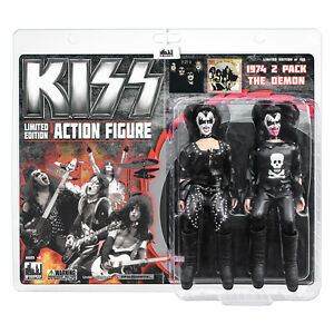 KISS 8 Inch Mego Style Action Figure Two-Packs: The Demon 74 Debut Album Edition
