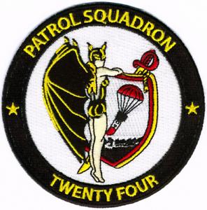US NAVY VP-24 BATMEN PATCH PATRON 24