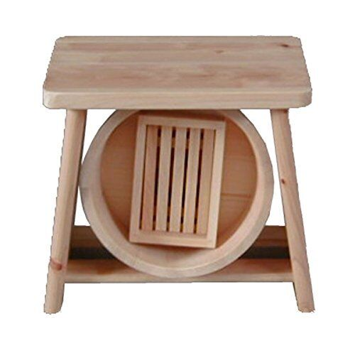 Japanese Hinoki Wood Isu Stool Bath Stool Isu Chair OKE Set of 3 Onsen Tools 1141b9