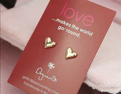 1pair mini gold tone AG stud earrings designs UR heart star cross pearl design