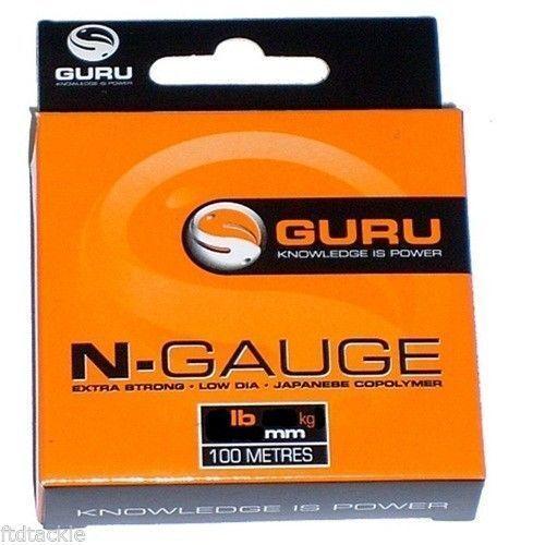 GURU N-GAUGE MONOFILAMENT POLE MATCH FISHING LINE HOOKLINK//LENGTH 100M 9LB 12LB