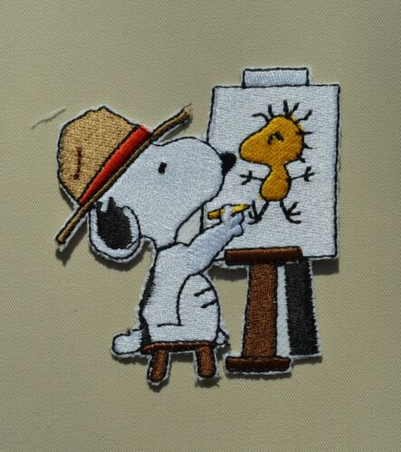 chein 8.5cm broder et thermocollant snoopy peintre patch 1a