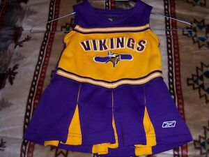 Details About Minnesota Vikings Cheerleaders Outfit Kids 12 Months