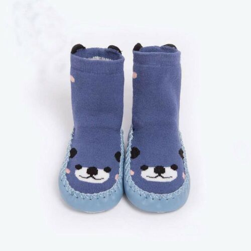 Winter Kids Baby Girls Boys Cartoon Thick Winer Warm Anti-Slip Socks Slippers AB
