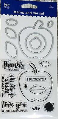 Love Nicole Clear Stamp /& Die Set Apple Of My Eye Thanks A Bushel Peck Love