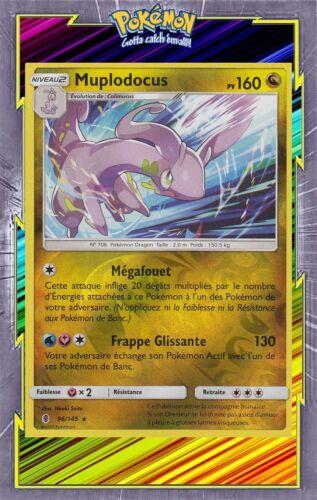 SL02:Gardiens Ascendants-96//145-Carte Pokemon Neuve Français Muplodocus Reverse