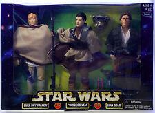 "MIB STAR WARS Action Collection 12"" Luke Skywalker Princess Leia Han Solo KENNER"