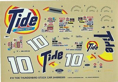 Toys & Hobbies Decals Nascar Decal #10 Tide 1994 Thunderbird Ricky Rudd 1/24 Bright Luster