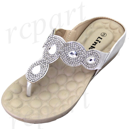 New girl/'s kids wedge sandals silver t strap casual open toe summer