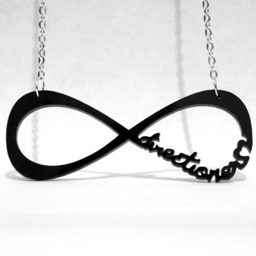 CIONDOLO LOGO DIRECTIONER INFINITY INFINITO 1D CLASSICO COLLANA ONE DIRECTION
