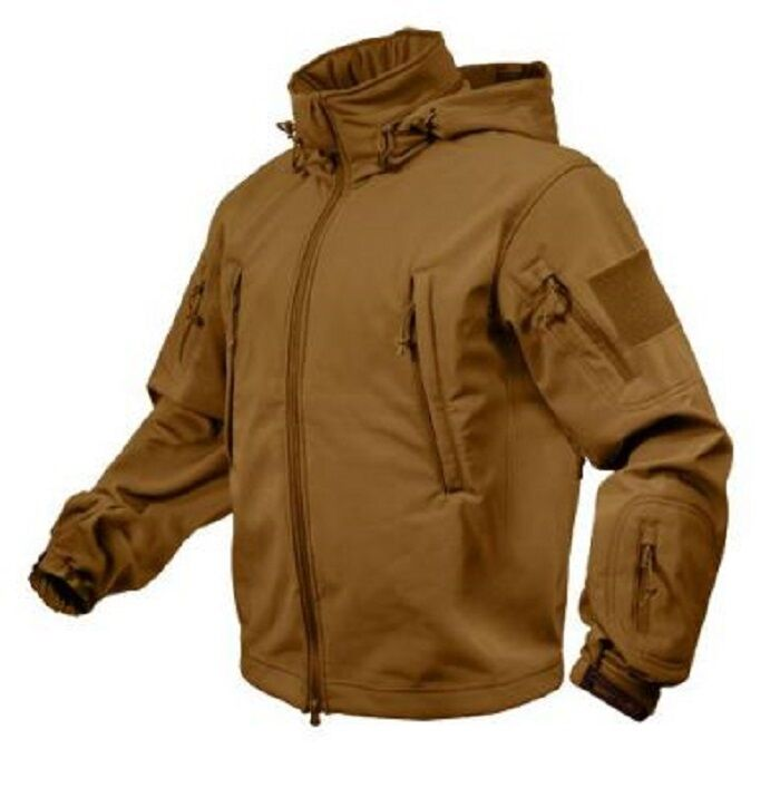 US SPEC OPS Softshell LWH Army Tactical Combat Soft Shell Giacca Coyote Marronee