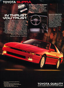 7ac7afff55a8 Image is loading 1988-Toyota-Supra-Red-Vintage-Advertisement-Ad-P36