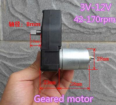 DC3V-12V 5V Gearmotor Geared Motor Slow speed smart car crank generator DIY