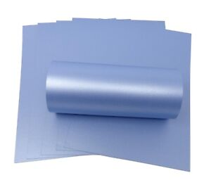 10-SHEETS-A4-MAYA-BLUE-PEARLESCENT-SHIMMER-DOUBLE-SIDED-DECORATION-CARD-300GSM