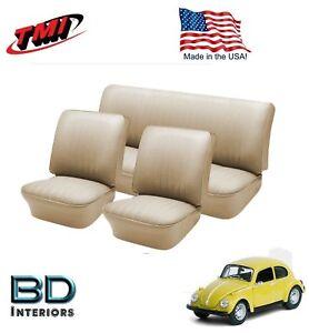 1958-64-VW-Volkswagen-Bug-Convertible-F-R-034-Saddle-034-Slip-On-Upholstery