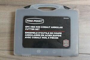 Pro-Point-6PC-HSS-M35-Cobalt-Annular-Cutter-Set